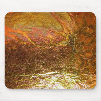 Gold and brass plated texture with a crinkle patte mouse pad