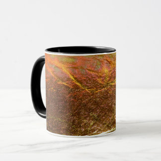 Gold and brass plated texture with a crinkle patte mug