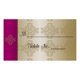 Gold and Burgundy Damask Posh Wedding Place Cards Business Cards
