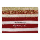 Gold and Burgundy Will You Be My Bridesmaid Card