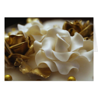 Gold and Cream Wedding Rose Invitation Card