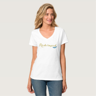 Gold and Feathers Bridesmaid Shirt