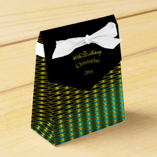Gold and Green Art Pattern Favour Box
