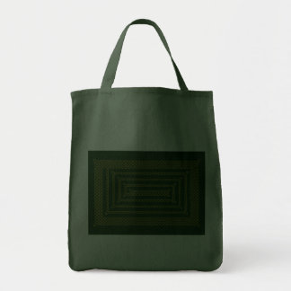 Gold And Green Celtic Rectangular Spiral Canvas Bags
