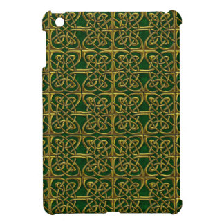 Gold And Green Connected Ovals Celtic Pattern Case For The iPad Mini
