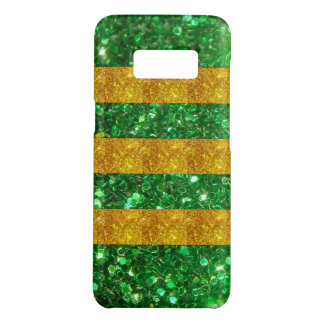 Gold and Green Glitter Stripes Case-Mate Samsung Galaxy S8 Case