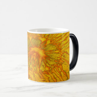 Gold and green plated texture with a abstract patt magic mug