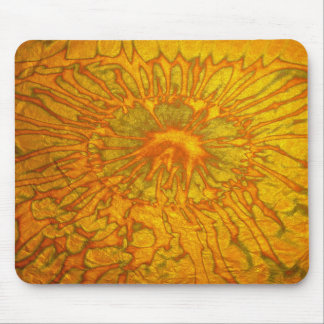 Gold and green plated texture with a abstract patt mouse pad