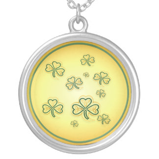 Gold and Green Shamrocks-2 Necklaces