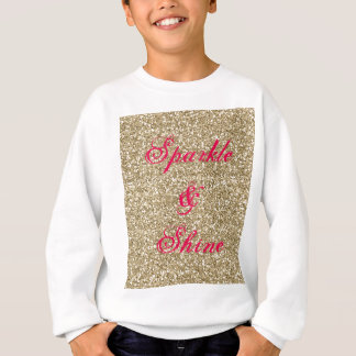 Gold and Hot Pink Glitter Sparkle and Shine Sweatshirt