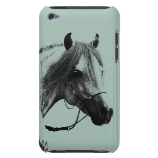 Gold and Ivory English Horses Pattern Barely There iPod Covers