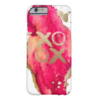 Gold and Magenta XOXO Iphone case
