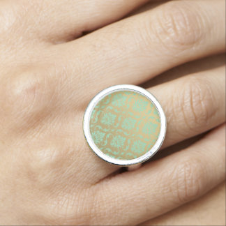 Gold and Mint Classic Damask