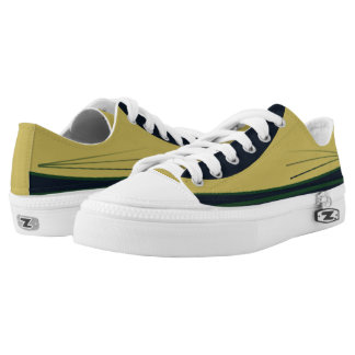 Gold and Navy with Green Trim Tres Lo-Top Printed Shoes