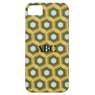 Gold and Olive Green Tiled Hex Case for iPhone5 iPhone 5 Cases