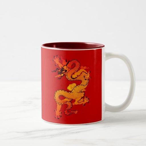 Gold and Orange Dragon for Chinese New Year Mug