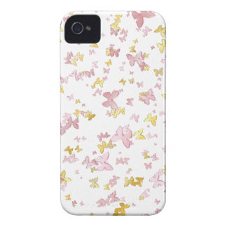 Gold and pink butterfly iPhone 4 cover