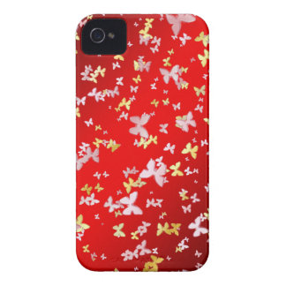 Gold and pink butterfly Case-Mate iPhone 4 cases