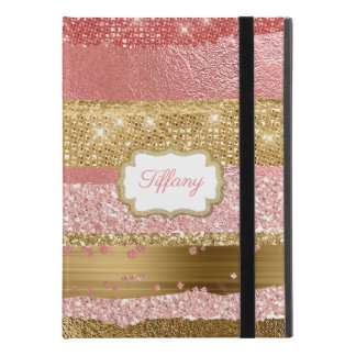 Gold and Pink Glitz iPad Pro 9.7 Case