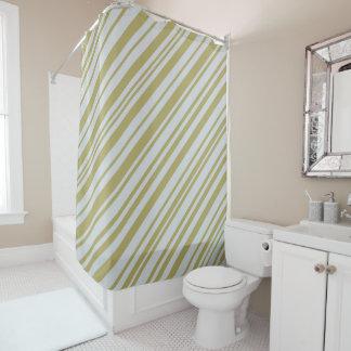 Gold and Platinum designer stripes Shower Curtain
