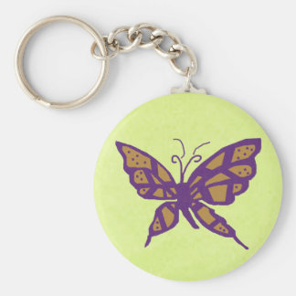 Gold and Purple butterfly key chain