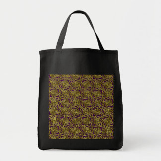 Gold And Purple Celtic Spiral Knots Pattern Bags