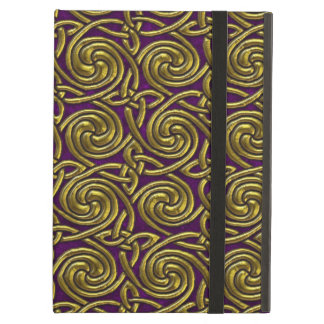 Gold And Purple Celtic Spiral Knots Pattern Case For iPad Air