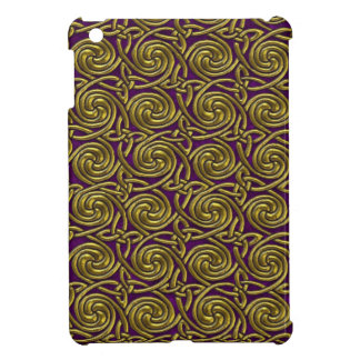 Gold And Purple Celtic Spiral Knots Pattern iPad Mini Covers