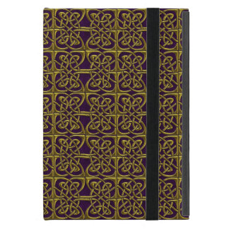 Gold And Purple Connected Ovals Celtic Pattern iPad Mini Cases