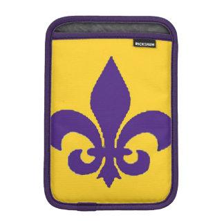 Gold and Purple Fleur de lis Ipad Mini Sleeve