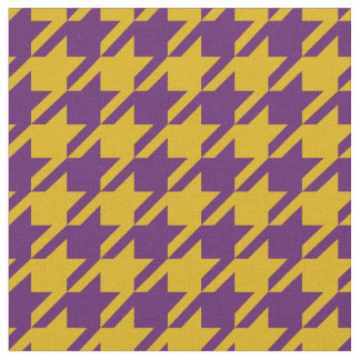 Gold and Purple Houndstooth Fabric