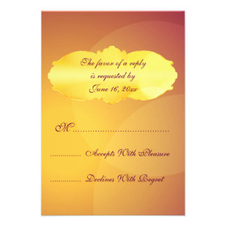 Gold and purple party lights RSVP cards Invitation