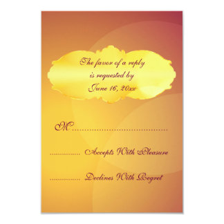 Gold and purple party lights RSVP cards 9 Cm X 13 Cm Invitation Card