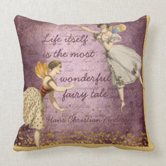 Gold and Purple Wonderful Fairy Tale Cushion