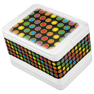 Gold and Rainbow Polk Dots Cooler