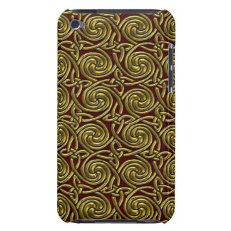 Gold And Red Celtic Spiral Knots Pattern iPod Touch Case-Mate Case