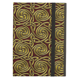 Gold And Red Celtic Spiral Knots Pattern iPad Air Case