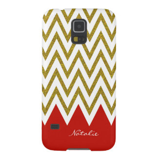Gold and Red Chevron Samsung Galaxy S5 Case