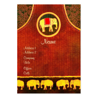 Gold and Red Elephant Kingdom Business Cards