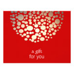 Gold and Red Holiday Gift Certificate Personalised Invite