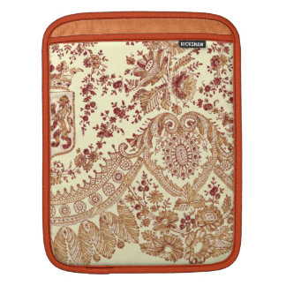 Gold And Red Lace Roses iPad Sleeves