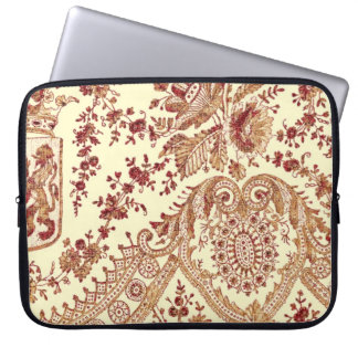 Gold And Red Lace Roses Laptop Sleeve