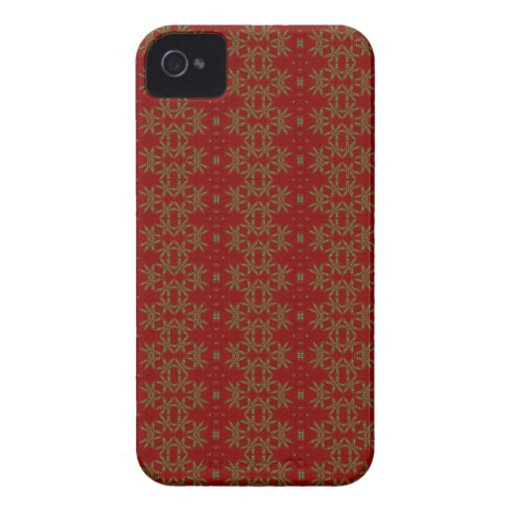 Gold and Red vintage Wallpaper Blackberry Case