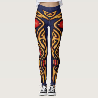 Gold and Ruby Leggings