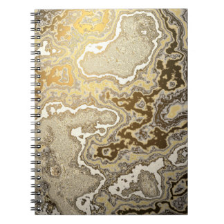 Gold and Sandstone Egg Notebook