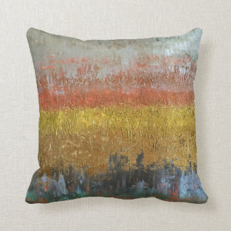 Gold and Silver Abstract Cushion