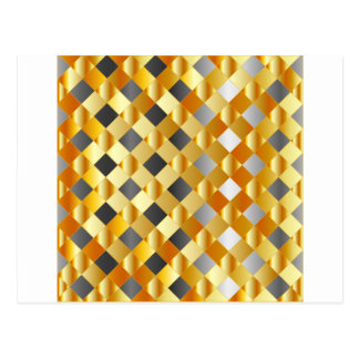 Gold and silver background postcard