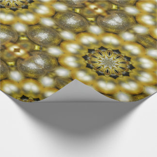 Gold and Silver Baubles Christmas Wrapping Paper