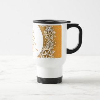 Gold and Silver Christmas Tree Coffee Mug