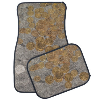 Gold and Silver Coins. Floor Mat